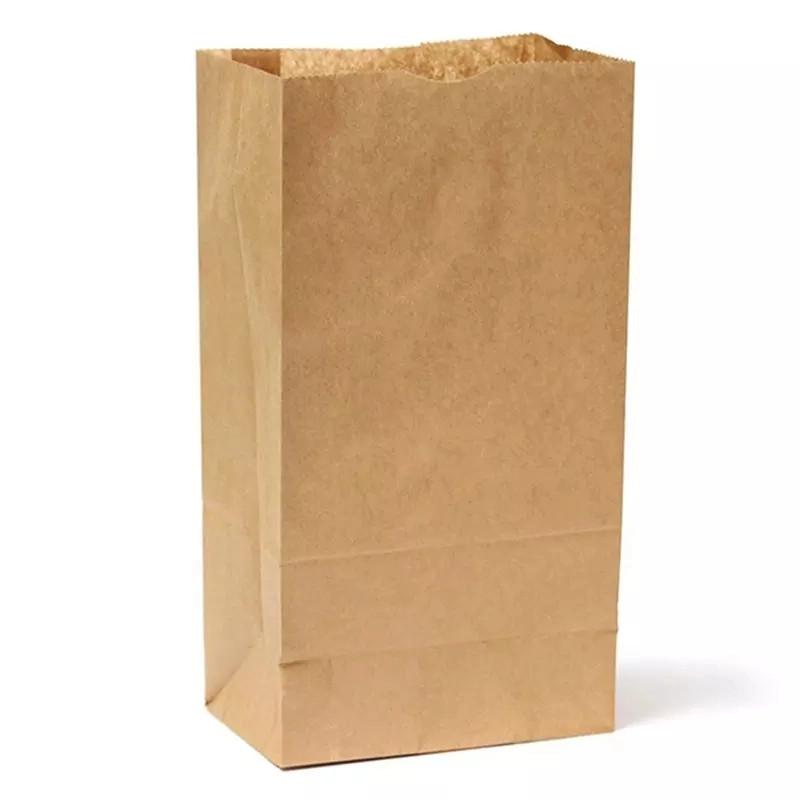 حقيبة ورقة كيس من الورق الغذاء براون المعاد تدويرها الفاخرة ورقة حقيبة تسوق سوبر ماركت