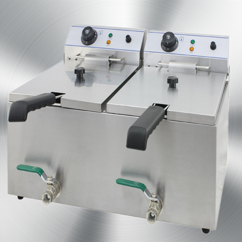 المقلاة الكهربائية مع صمام اثنين من خزان