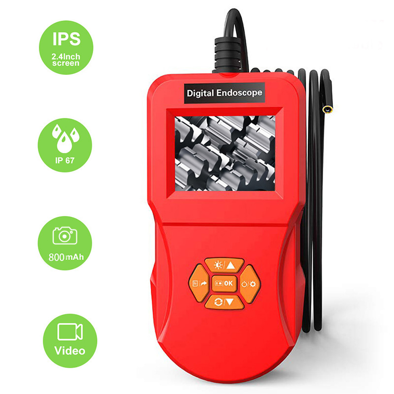المنظار USB مع 4.3 بوصة شاشة العرض بوريسكوب التفتيش 1080P HD الأفعى كاميرا 8 المصابيح المنظار متعدد الوظائف للآلة