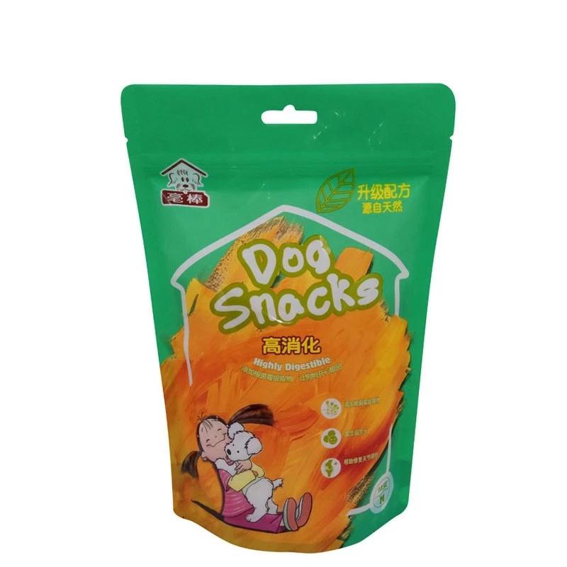 الرمز البريدي قفل كيس من البلاستيك الوقوف الحقيبة حقيبة بالجملة للأغذية الخفيفة وأغذية الحيوانات الأليفة