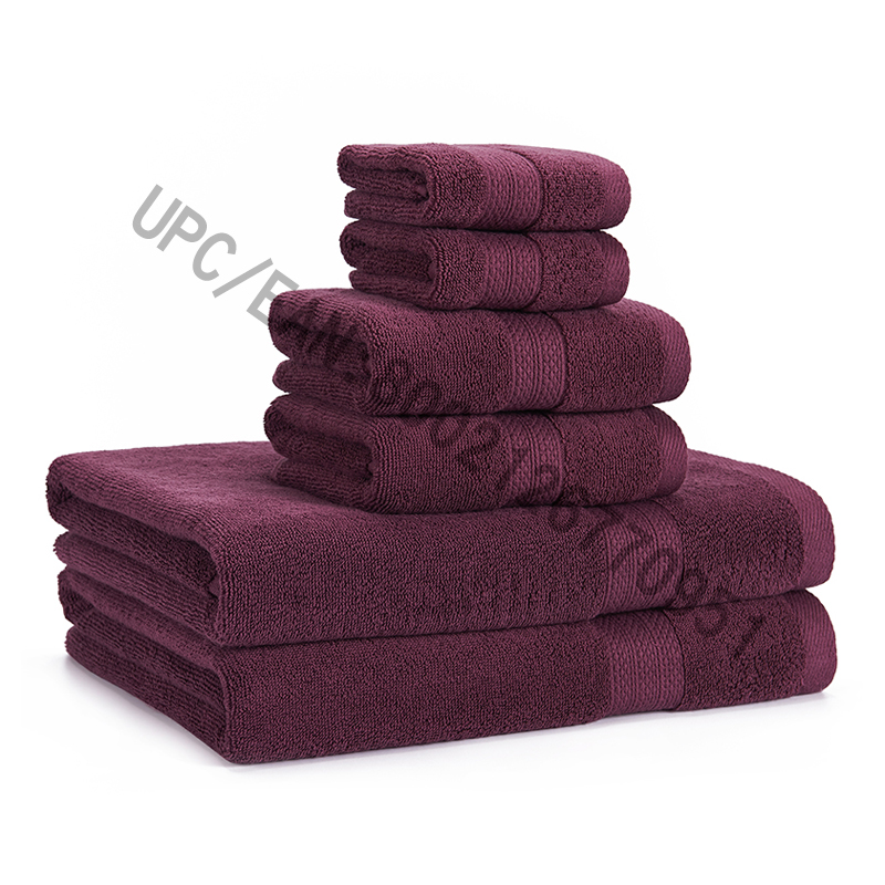 JMD TEXTILE Bathroom Towels Set، مناشف ، مجموعة من 6 قطن ممشط ، 2 منشفة ، 2 مناشف اليد ، 2 مناشف الحمام ، مناشف