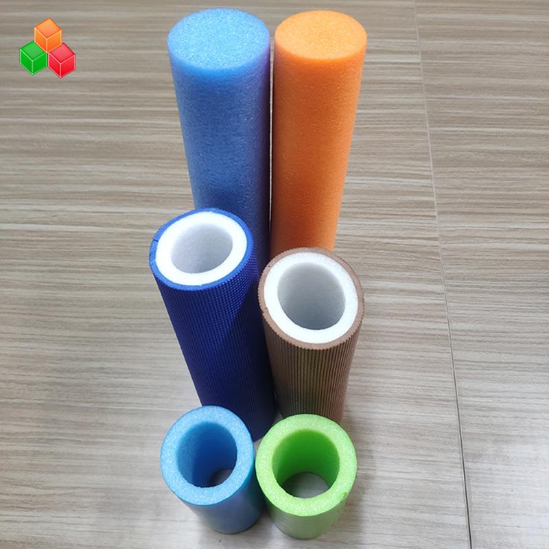 شكل مخصص شعار اللون السوبر لينة أنابيب الرغوة المجوفة PVC EVA EPE أنبوب الجولة رغوة للمعدات ملعب داخلي / التعبئة والتغليف