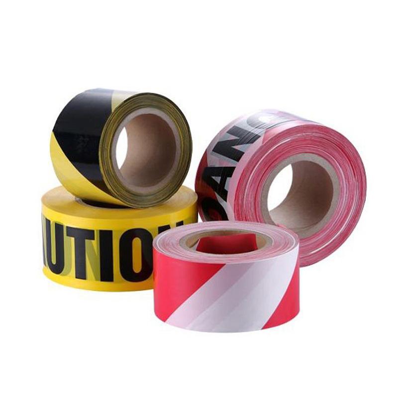 مصنع توريد عينات مجانية عالية القوة الطباعة حسب الطلب البولي ايثيلين حزام الأمان تحذير قوي