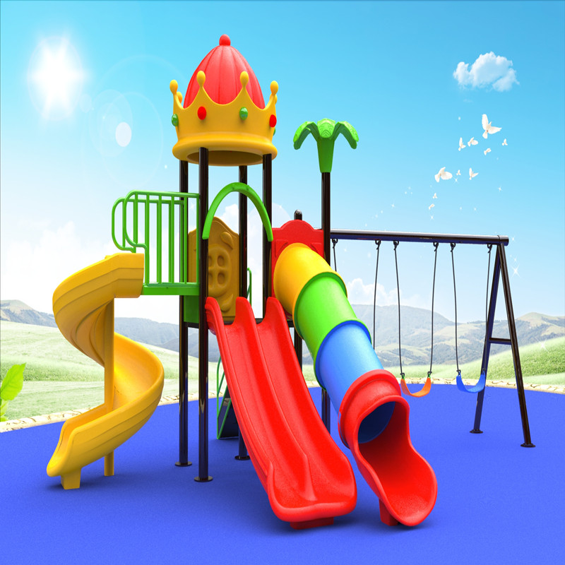 في الهواء الطلق ولي العهد تلعب معدات ملعب البيت مع أطفال سوينغ لعبة الشريحة للأطفال