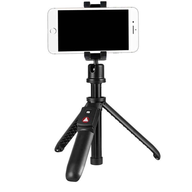 KINGJOY 5 أقسام Mini Selfie Stick مع ساق قابلة للطي للتغيير إلى حامل ثلاثي القوائم مع تحكم Bluetooth