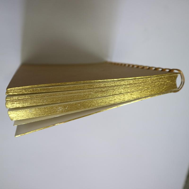 الذهب ختم لفائف ملزمة دفتر نمط الرجعية